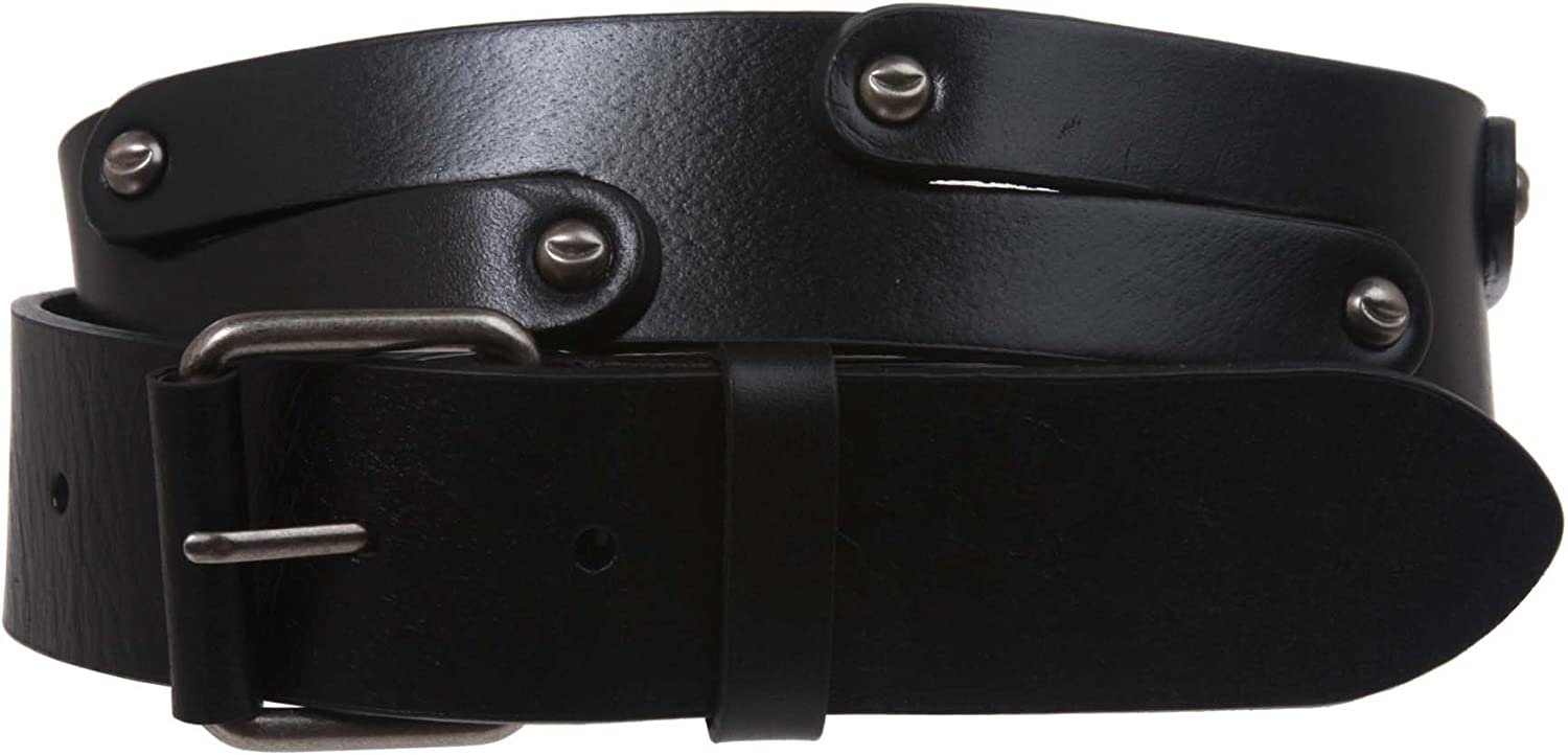 1 1 2 Snap on Hammered Nail Head Studs Leather Link Belt