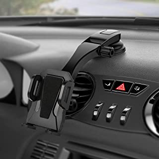 Miracase Car Phone Mount Cell Phone Holder Dashboard&Windshield Adjustable Vehicle Phone Stand Universal Compatible with iPhone X Xs Max XR 8 Plus 7 6 Samsung Galaxy S9 S8 Note 9 8 Edge (Black)
