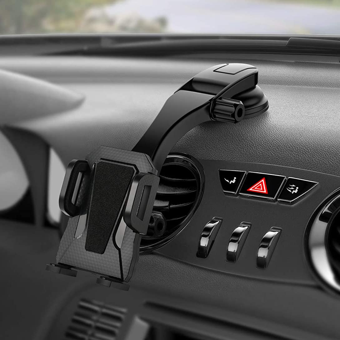 MIRACASE Car Phone Mount Cell Phone Holder Dashboard&Windshield Adjustable Vehicle Phone Stand Universal Support Compatible with iPhone X Xs Max XR 8 Plus 7 6 Samsung Galaxy S9 S8 Note 9 8 Edge xy4585198