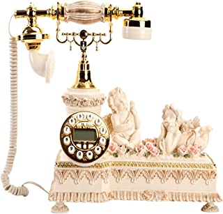 Classic Retro Mobile Phone, Antique Telephone Button Wired Home Landline, Living Room Antique Decorative Ornaments Retro L...
