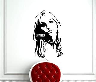 Britney Spears Wall Decal Pop Music Singer Vinyl Sticker Room Interior Decoration Home Kids Room Art Design Removable Waterproof Mural (223OP)