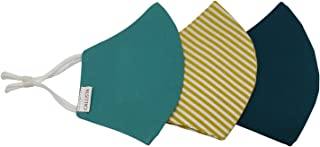 Callista 100% Cotton Soft fabric Washable Face Mask for Women, Kids, Boys, Girls, Anti Virus & Bacteria Finish, 3-Layer Pr...