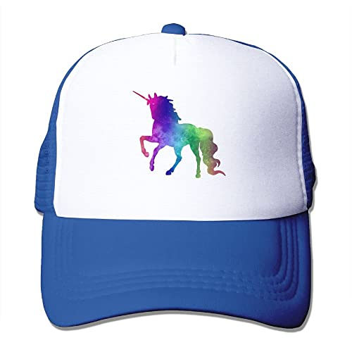 Adult Rainbow Galaxy Unicorn Printed Baseball Caps Trucker Mesh Hat