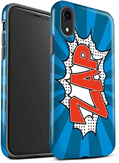 eSwish Gloss Tough Shock Proof Phone Case for Apple iPhone XR/Zap Design/Comics/Cartoon Words Collection