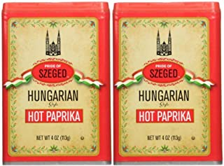 Szeged Hot Paprika Powder, 4-Ounce (Pack of 2)