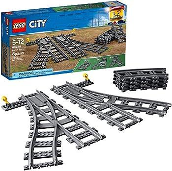 LEGO City Switch Tracks 60238 Building Kit (8 Pieces)