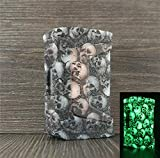 DSC-Mart Texture Cover for GeekVape Aegis Legend 200W Mod Silicone Case Sleeve Wrap (Glow Skull)
