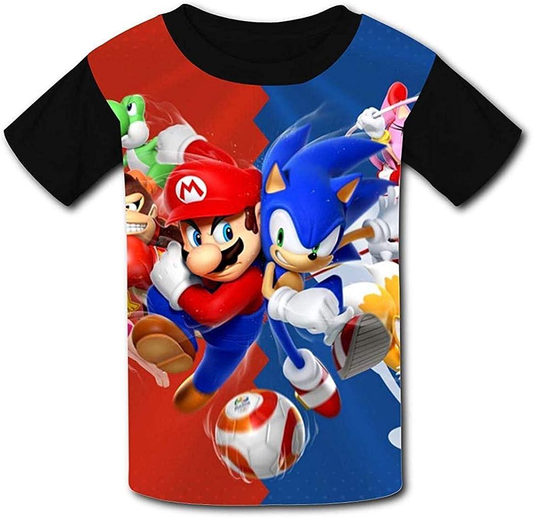 ANTOUZHE niño Camisetas Ma-Rio So-Nic The He-dgeHog Boys ...