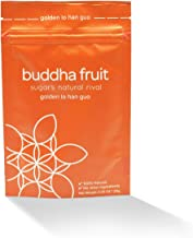 Buddha Fruit | Golden Lo Han Guo (Monk Fruit) extract | - 100% Natural, 0 calories, 0 Carbs, 1 Ingredient | 25% MogrosideV | Sugar alternative | 20g packet | Tiny scoop included