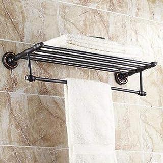 "LOLIBABA Towel Bar Bathroom Shelf Oil Rubbed Bronze Wall Mounted 630X 265 X 66Mm (24.8 X10.43X 2.59"") Brass Traditional"