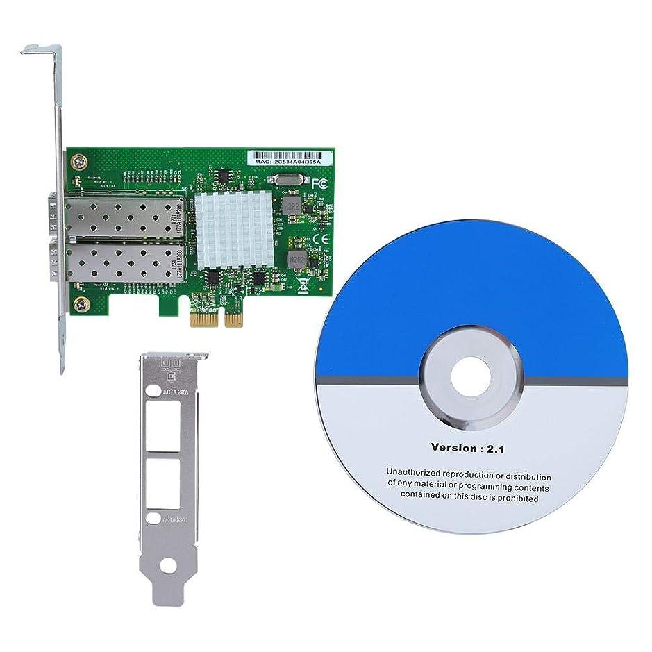 目立つインタラクション閲覧するZerone 1000Mbps ネットワークカード 2ポート オープン SFP+ PCIE x4 Intel 82576 チップ ギガビット イーサネット NIC アダプター