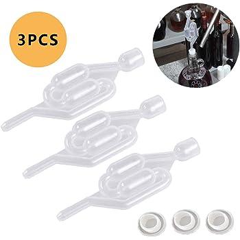 KJSMA Airlock BPA-Free per la fermentazione Set di 6 Kit Airlock per la conservazione della fermentazione Produrre Vino Fermentazione Crauti Kimchi