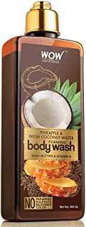 WOW Pineapple and Fresh Coconut Foaming Body Wash - For Cleaner & Smoother Skin - Shea Butter & Vitamin E - For Men ,Women...