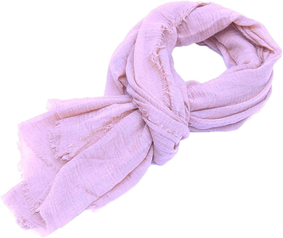 Aneina Solid Classic Fashion Scarf or Wrap - Stylish, Long, Lightweight, Wrinkle,with Pashmina-Like Cotton Blend (39 x 74