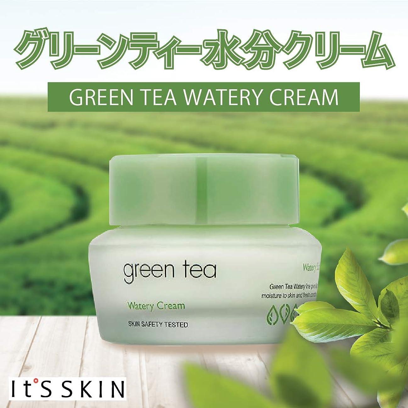 突然のマインドフル文It's SKIN イッツスキン グリーン ティー ウォーターリー クリーム Green Tea Watery Cream 50g 【 水分 クリーム しっとり 保湿 キメ 韓国コスメ 】