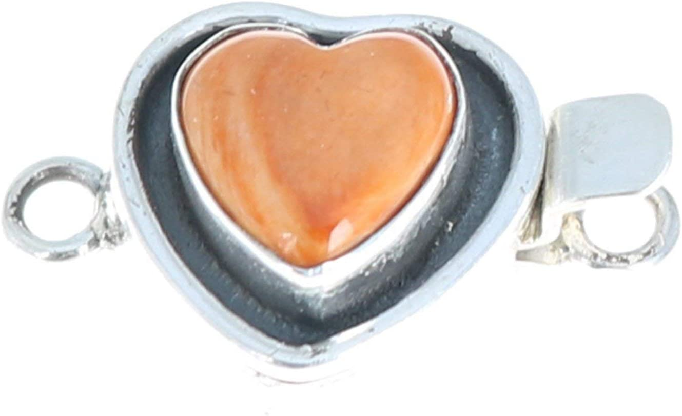 Ranking TOP10 Orange Spiny Oyster New product! New type Clasp Sterling Shaped Southwest Heart
