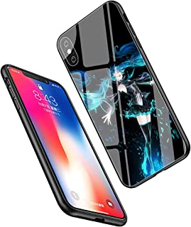 LiangChu 9H Tempered Glass iPhone 5/5s/SE Cases, LC-165 Hatsune Miku Anime Girl Design Printing Shockproof Anti-Scratch Soft Silicone TPU Cover Phone Case for Apple iPhone 5/5s/SE