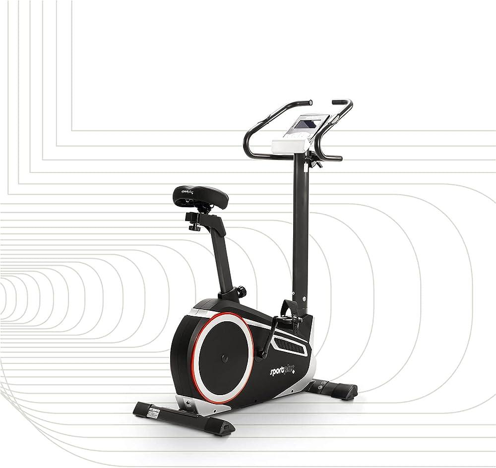 Sportplus cyclette ergometro, kinomap app, 24 livelli di resistenza, compatibile con la cintura toracica SP-HT-9600-iE