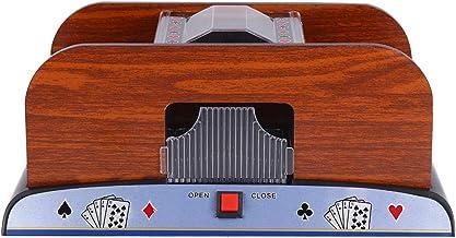 CLISPEED 2 Deck Card Shuffler Electronic Shuffler Machine Automatic Poker Shuffler Portable Casino Card Shuffler Playing C...