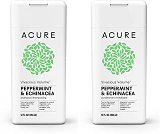 Acure Vivacious Volume Peppermint & Echinacea 12 Fluid Ounces (Variety Pack)