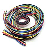 AUAUDATE 55m Surtidos Encogimiento Calor Envoltura Cable Tubos Pack 11 Sizes & 6 Colors