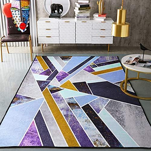 Rug Nniu Geometrisch tapijt, ruimte kort pile, antislip, groot tapijt voor woonkamer, slaapkamer, salontafel, mat dekbed -10 mm
