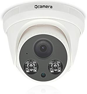 "Q-camera Dome Security Camera 1080P 2MP 4 in 1 TVI/CVI/AHD/CVBS 1/2.7"" Sensor 2.8mm Lens 60ft IR Night Vision Surveillance System Camera for Indoor 1080P/1080N DVR"