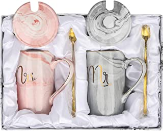 SAPU Mr and Mrs Couples Mug Set,Valentine's Day gift,Unique Wedding Gift for Bride and Groom, His and Hers Anniversary Pre...