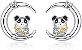 925 Sterling Silver Panda Gifts Cute Panda Necklace Stud Earrings for Women Jewelry Christmas Gift