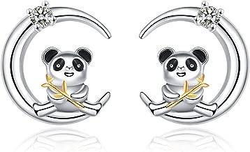 YFN Sterling Silver Cute Animal Panda Bear Jewelry for Women Girls Birthday Gift