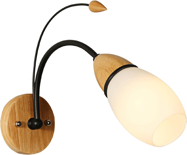 JUIANG Apliques de Parojo nórdico Moderno Luces de Parojo de Madera Maciza Led Dormitorio lámpara de cabecera Pasillo de casa Pasillo Escalera lámpara de Parojo