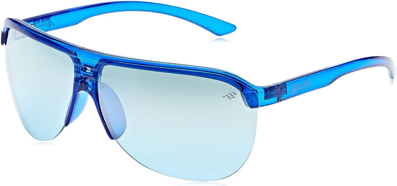 Red Bull Racing Eyewear - Lunette de soleil UMBU SPORTS-TECH Aviator Shiny Transparent Blue/Smoke With Silver Flash