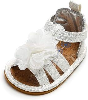 LACOFIA Sandales d'été pour bébé Filles Chaussures de Fleurs Premier Pas pour bébé ete