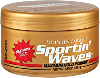 Soft Sheen Sportin Waves Maximum Hold Pomade 3.5oz (3 Pack)