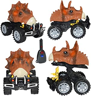 New Dinosaur Model Mini Toy Car Back of The Car Gift Pull Back Car for Kids Puzzle Game Toys for Kids Early Learning Educational Toys for Kids Gifts School Educational