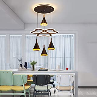 Modern Chandelier LED Dimmable 240W LED Acrylic Pendant Chandeliers Lighting Contemporary Dining Table Entry Kitchen Islan...