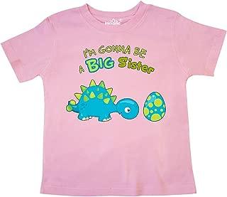 inktastic Happy Dinosaur Future Big Sister Toddler T-Shirt