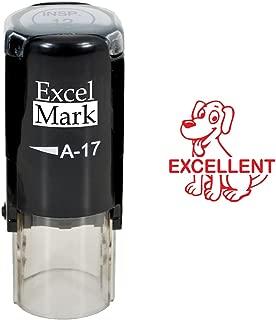 Excellent Dog - ExcelMark Self-Inking Round Teacher Stamp - Red Ink