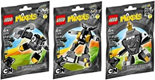 LEGO Mixels Gray Cragster 3 Pack - Krader 41503, Seismo 41504, and Shuff 41505