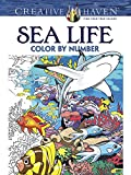 sea life color by number  Top Coloring Books of 2019