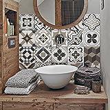 (24 Piezas) Pegatinas para Azulejos tamaño 10x10 cm PS00089 Adhesivo de Vinilo Decorativo para Azulejos de baño y Cocina