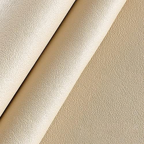MUYUNXI Tessuto Ecopelle Finta Pelle per Tappezzeri Mobili Coprisedile per Sedia Armadi da Cucina Divano 138 Cm di Larghezza Venduto al Metro(Color:Colore Albicocca di Riso)