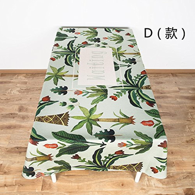 Ahorre 35% - 70% de descuento azulLSS Diseño de Planta verde de Algodón y Lino Mantel Mantel Mantel para Mesa de Comedor Mesas de Té Mantel,D,85x85cm.  barato en alta calidad