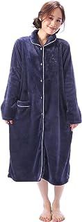 Nishiki(ニシキ) RoomSuppli(ルームサプリ) ネグリジェ パジャマ レディース 長袖 もこもこ 前開き 冬 ルームウェア ガウン 部屋着 かわいい 産後 マイクロファイバー 【M~L】