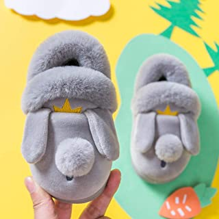Winter Household Slippers Animal Cartoon Bed Slippers Room Non Zhaozb (Color : Grey Slipper, Size : 7)