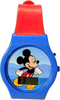 KidPlay Products Mickey Digital LCD Wrist Watch Kids Adjustable Strap - Orange