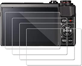 [4 Pack] Screen Protector for Canon G7X Mark II G9X G9XII G9X G7X G5X Fujifilm X100T, OOSTR Anti-Scratch Tempered Glass