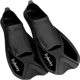 Trybesty Swim Fins,Short Snorkel Fins Travel Size Flippers for Snorkeling Diving Swimming Adult Men Women