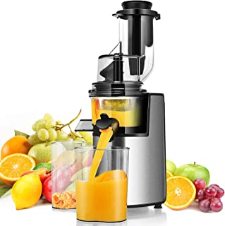 Costway 3inch Wide Chute Slow Masticating Juicer Extractor with Reverse Function, Cold Press Juicer Machine for Higher Nut...