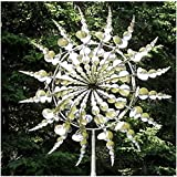 Unique and Magical Metal Windmill Lawn Wind Spinner Outdoor Metal Kinetic Metal Wind Spinner for...